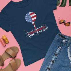 Patriotic Golf USA Flag Fore America T-Shirt Design