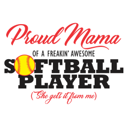 Proud Mama Softball Mom Shirts | Sports T-Shirt Design