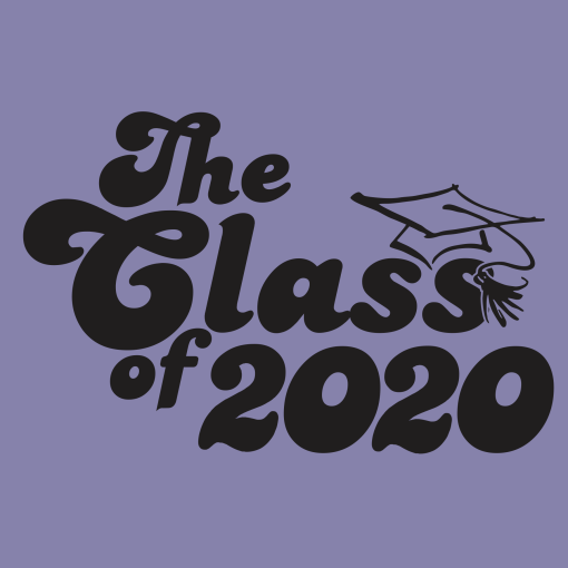 Senior T Shirt 2020 Retro The Class of 2020 Graduation Year Cap T-Shirt Design