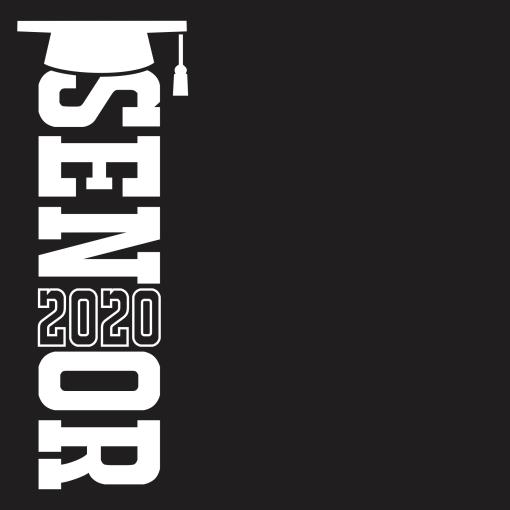 Senior T Shirt Design Class of 2020 Graduation Cap Year T-Shirt Design