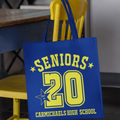Seniors Class of 2020 Graduation Year Athletic Number Custom T-Shirt Design Template_Tote Bag