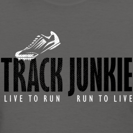 Track Junkie Track and Field T Shirt Design Running Athletic T-Shirt Design