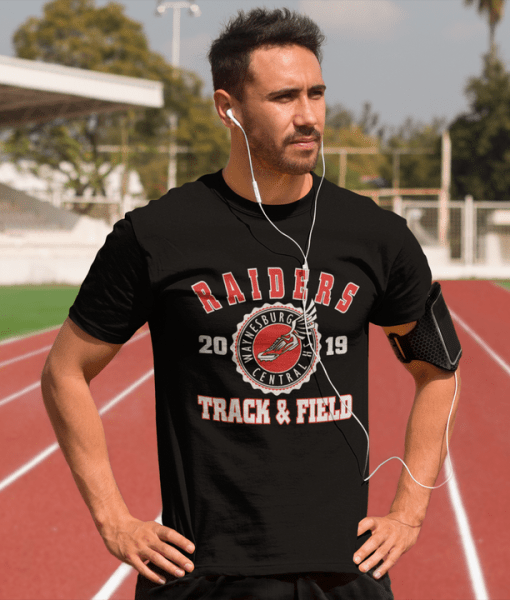 Track & Field School Team - Custom T-Shirt Design Template