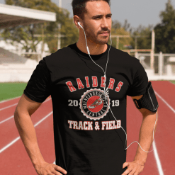 Track & Field School Team - Custom T-Shirt Design Template