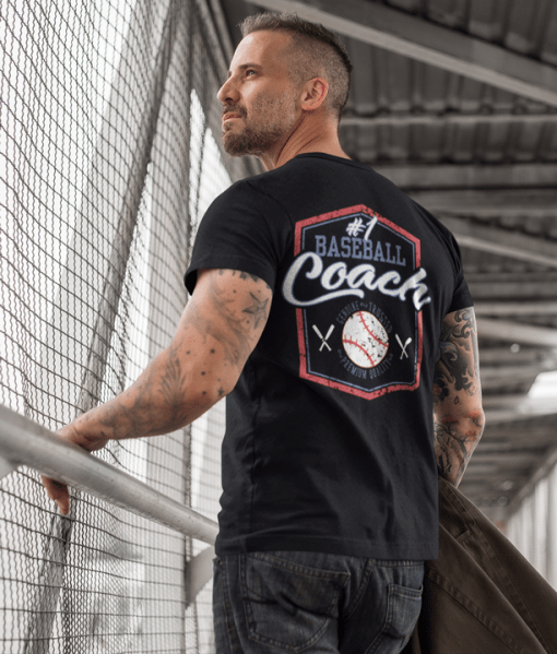 #1 Baseball Coach Sports - Ready-to-Print T-Shirt Design Download