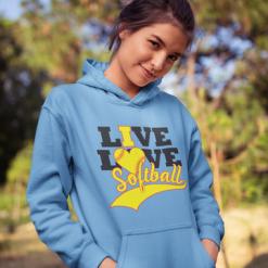 Live Love Softball Sports T-Shirt Design