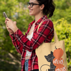 Halloween Cat Pumpkins Spider Hocus Pocus Magic vector graphic logo t-shirt design for pillow tote bag sign