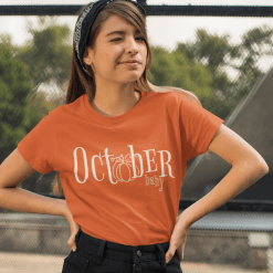 October Baby Fall Autumn Merch Ready T-Shirt Design Birthday