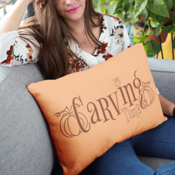 Pumpkin carving time fall merch ready t-shirt design pillow