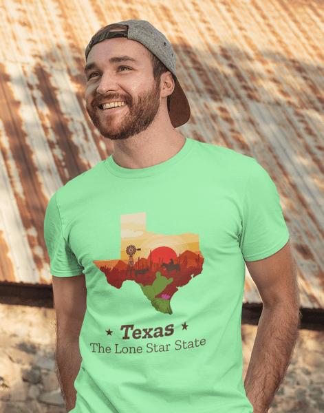 Texas Hometown Regional t-shirt print design