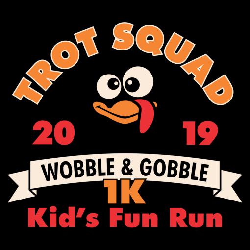 Kids Turkey Trot T-Shirt Template Turkey Trot Squad 1K Kids Race Design Template