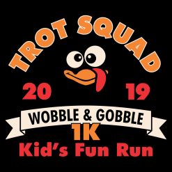 Kids Turkey Trot T-Shirt Template Turkey Trot Squad 1K Kids Race Design Template