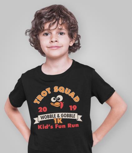 Turkey Trot Shirts Trot Squad 1K Kids Thanksgiving Turkey Trot Race Kids royalty free designs for t-shirts and screen print designs