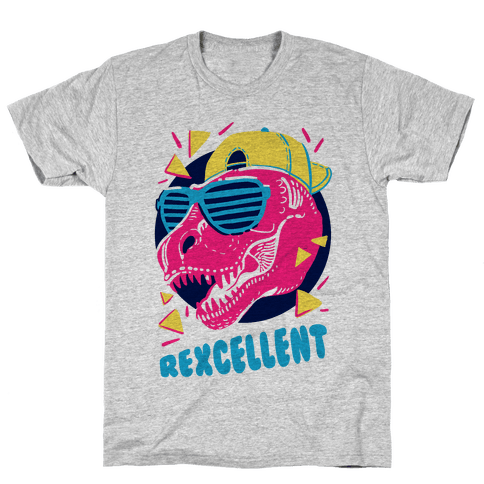 colorful pop-culture 80s and 90s t-shirt print design trend