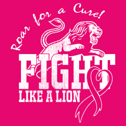 Fight Like A Lion Breast Cancer Shirt Design