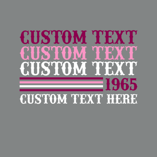 T shirt design template repeated text t-shirt design