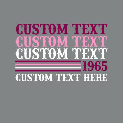T shirt design templates repeated text t-shirt design