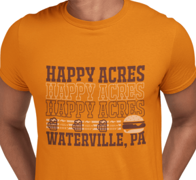 Repeated text t shirt design trends 2020
