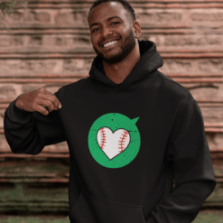 Valentine Gift Ideas Heart Sports Love Baseball T-Shirt Designs Print