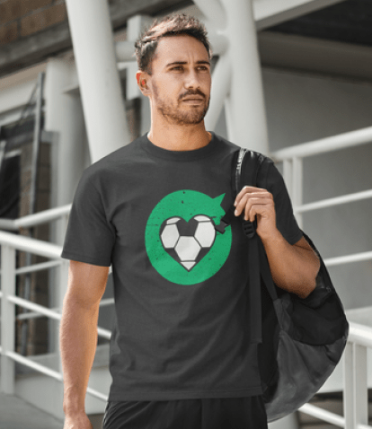 Heart Love Sports Soccer T Shirt Designs | Valentine Gift Ideas