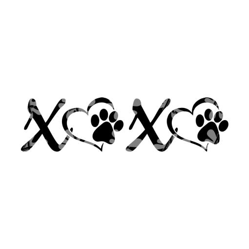 Dog Paw Print SVG Love XOXO T Shirts - Valentine Dog Shirts Design