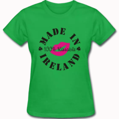 Kiss me I'm Irish T Shirt Made in Ireland T Shirt Design St Patrick's Day Shirt Design