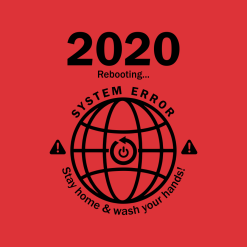 2020 System Error T Shirt Design | Social Distancing Coronavirus Pandemic Ready Made T Shirt Print Design