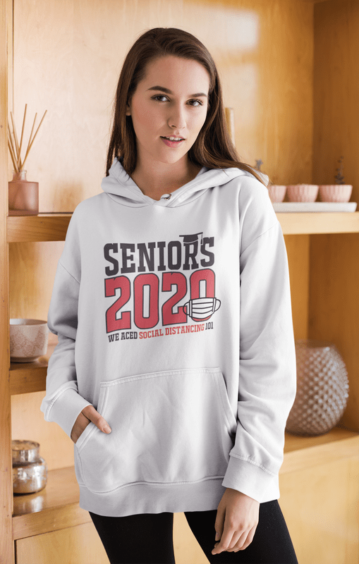 Seniors 2020 Social Distancing T Shirt Design 1