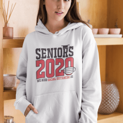 Seniors 2020 Social Distancing T Shirt Design 2