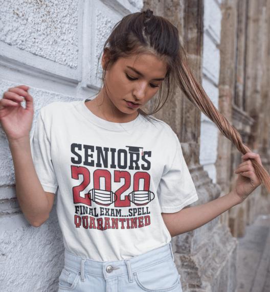 Seniors 2020 Final Exam T Shirt Design - Spell Quarantined Ready Made Pandemic Coronavirus Covid-19 T Shirt Designs