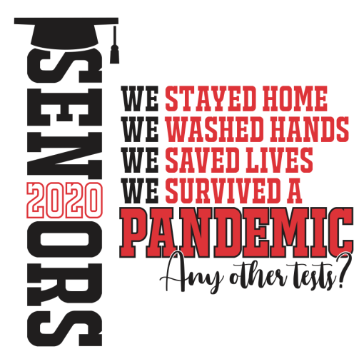 Seniors 2020 Pandemic Shirt Design - Shit Got Real Coronavirus Quarantine T Shirt Ready Made Design