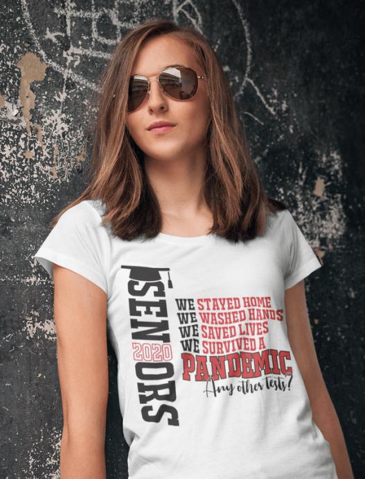 Seniors 2020 Pandemic Shirt Design - Shit Got Real Coronavirus Quarantine T Shirt Ready Made Design