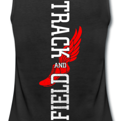 Track and Field Tee Shirt Designs - Running Shoe with Wings Ready Made T Shirt Print Design for track and field shirt designs