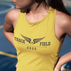 Track and Field T Shirts Designs Wings Template