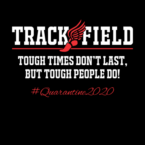 Track and Field Quarantine T Shirt Design | Coronavirus Pandemic T Shirts Ready Made T Shirt Designs