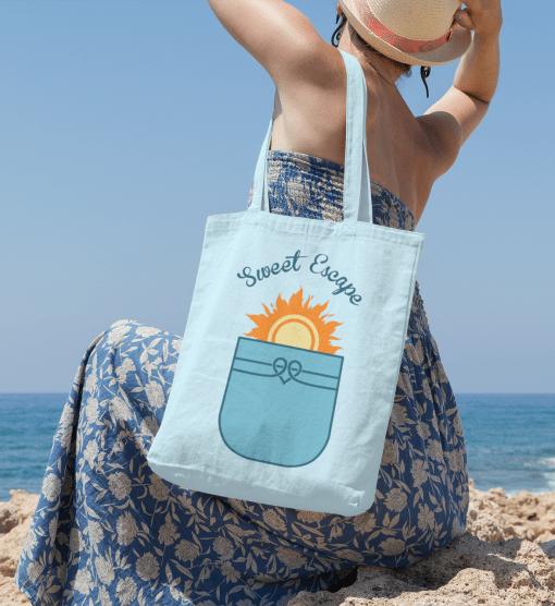 Summer T Shirt Designs Pocketful of Sunshine T Shirt Faux Pocket Vacation T Shirt Design SVG Cricut Cutting Files Tote Beach Bag Design