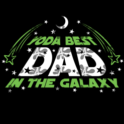 Yoda Best Dad Star Wars SVG T Shirt Design - Father's Day Gift T Shirt