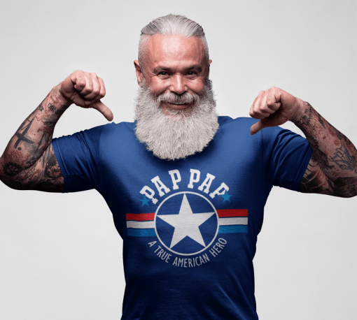 PAP PAP T Shirt Design - PAPPY SVG - A True American Hero - Father's Day Grandpa T Shirt 1