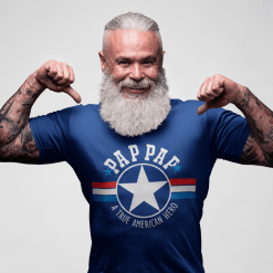 PAP PAP T Shirt Design - PAPPY SVG - A True American Hero - Father's Day Grandpa T Shirt 2