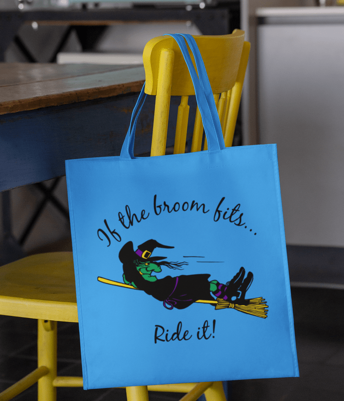 Witch Broom Svg If The Broom Fits Funny Halloween Svg