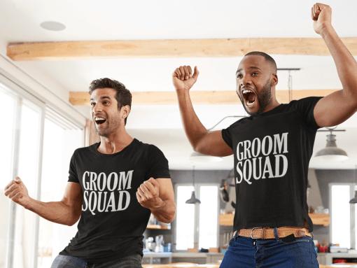 Best Bridal Party Shirts - Wedding Engagement SVG Design Bundle - 14 SVG & PNG Ready-to-Print Designs - Groom Squad T-Shirts - Groomsman Shirt
