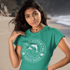 Coastal Distancing Shirt SVG - 2021 Summer Beach Week Vacation SVG - Funny Social Distancing Shirts