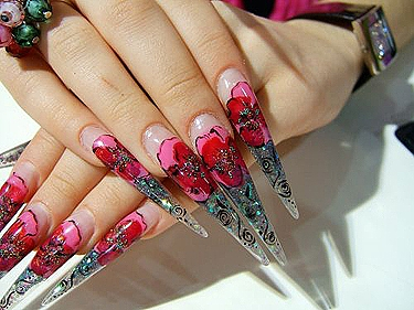 Stiletto nails acrylic and gel nail designs top 10 great stiletto nail design prinsesfo Images