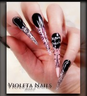 stiletto nails acrylic and gel