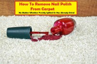 removing fingernail polish from carpet