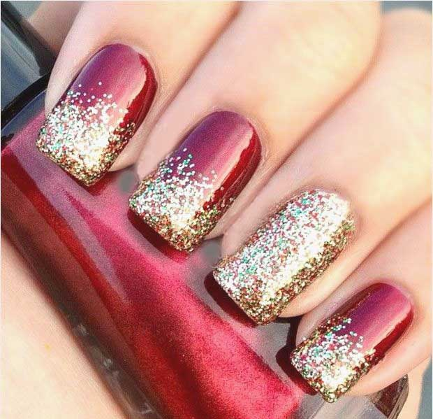dark red and gold glitters