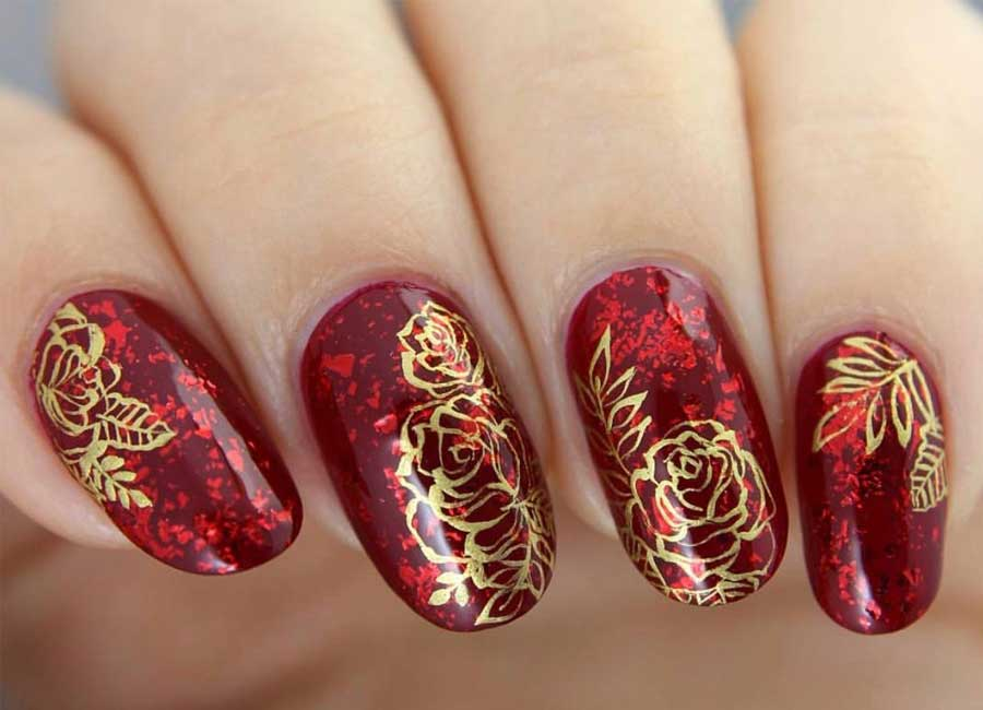 10 Sweet Rose Nail Art Ideas - Floral designs and patterns