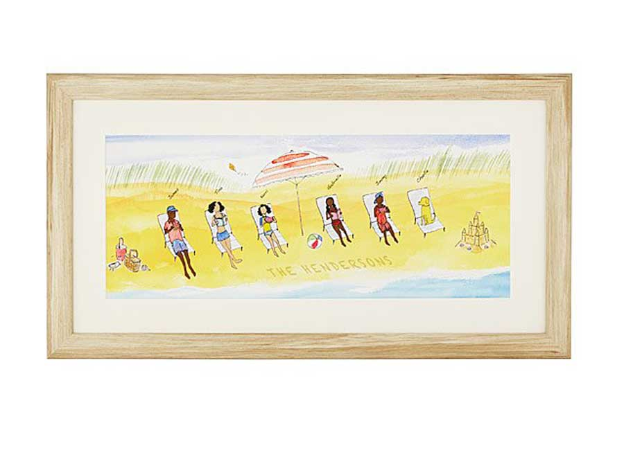 personalized beach family art