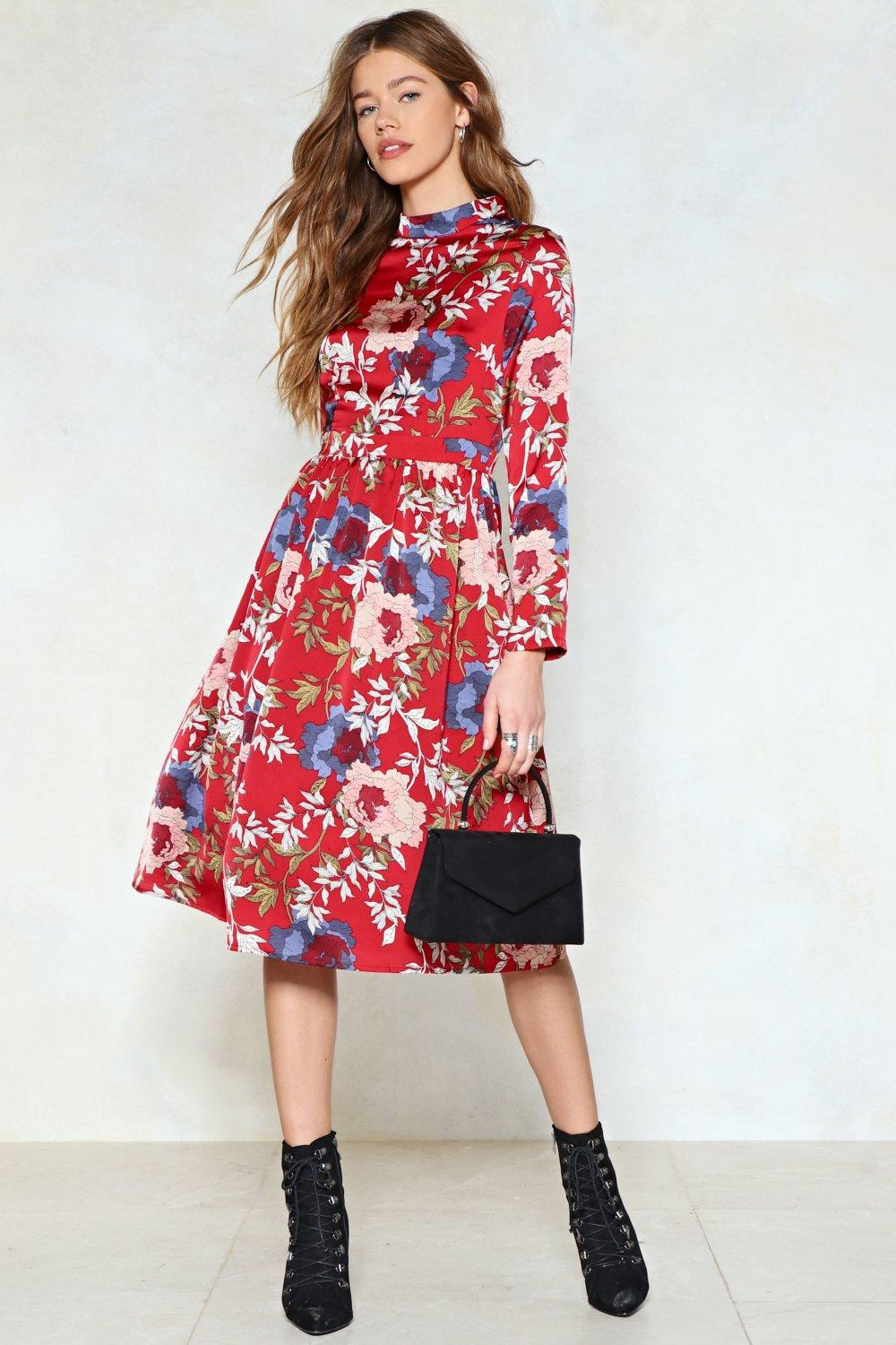 floral dress-cute outfits for school