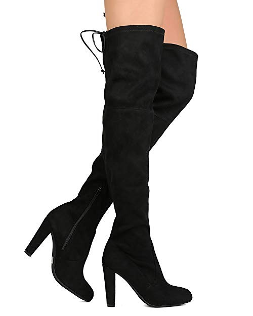 Wild Diva Women's Over The Knee Boot